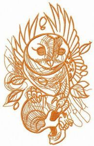 Successful hunt embroidery design