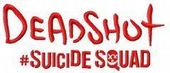 Suicide Squad Deadshot 3 embroidery design