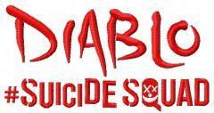 Suicide Squad Diablo 3 embroidery design