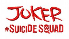 Suicide Squad Joker 3 embroidery design