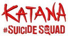 Suicide Squad Katana 3 embroidery design