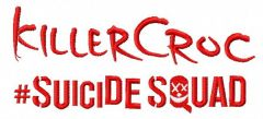 Suicide Squad KillerCroc 3 embroidery design