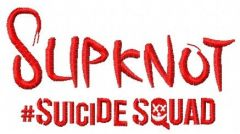 Suicide Squad Slipknot 3 embroidery design