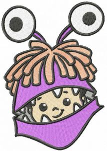 Boo embroidery design 2