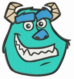 Sulley head embroidery design