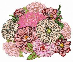 Summer bouquet 2 embroidery design