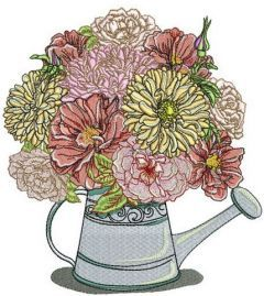 Summer bouquet embroidery design