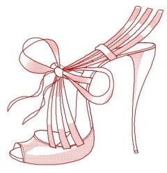 Summer high heels 2 embroidery design