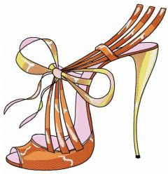 Summer high heels embroidery design