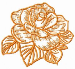 Summer rose flower embroidery design