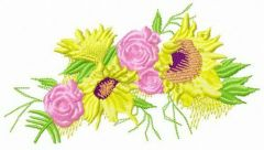 Summer wreath embroidery design