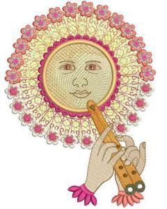 Sun 2 embroidery design