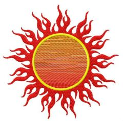 Sun machine embroidery design 6