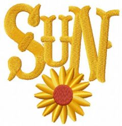 Sun-time-free embroidery design