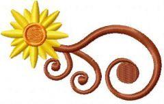 Sun swirl 2 embroidery design