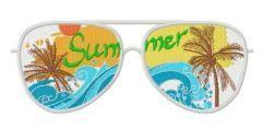 Sunglasses embroidery design 2