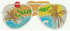 Sunglasses embroidery design