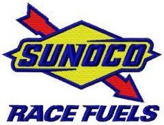 Sunoco logo embroidery design
