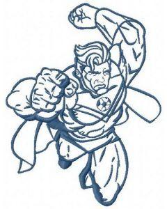 Superhero's attack 3 embroidery design