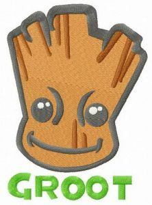 Super hero Groot embroidery design