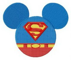 Super Mickey embroidery design