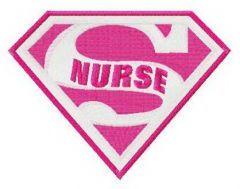 Super nurse embroidery design