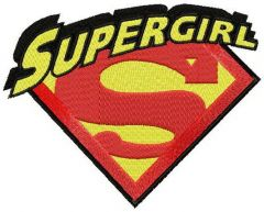Supergirl classic logo embroidery design