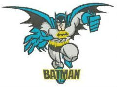 Superhero Batman embroidery design