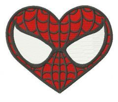 Superhero heart embroidery design