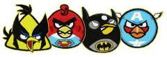 Superheroes angry birds embroidery design
