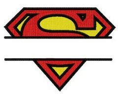 Superman monogram embroidery design