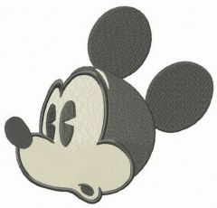 Surprised Mickey Mouse embroidery design