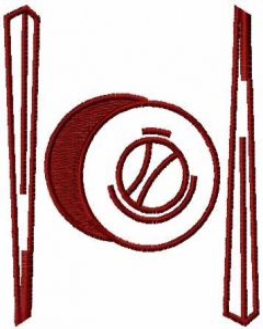 Sushi bar logo embroidery design
