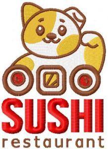 Sushi restaraunt embroidery design