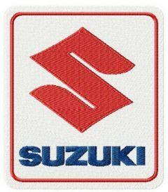 Suzuki logo 2 embroidery design