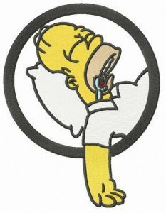 Sweet dreams Homer embroidery design