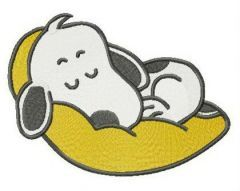 Sweet dreams, Snoopy embroidery design