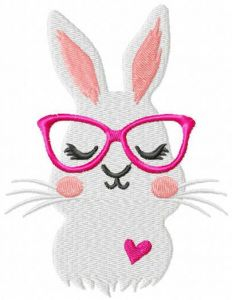 Sweet love bunny free embroidery design