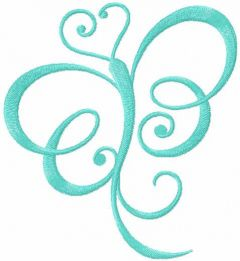 Swirl butterfly free embroidery design