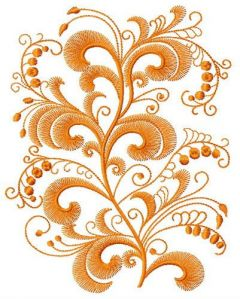 Swirl flower 3 embroidery design