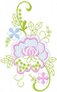Swirl Flower 4 embroidery design