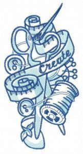 Tailor's mix embroidery design