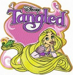 Tangled embroidery design