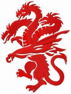 Targaryen's dragon embroidery design