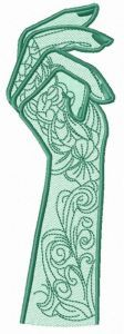 Tattooed arm embroidery design