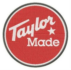 TaylorMade Golf Company logo embroidery design