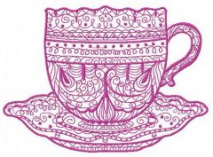 Tea time 6 embroidery design