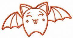 Teasing bat embroidery design
