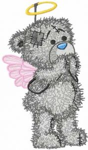 Teddy Angel embroidery design
