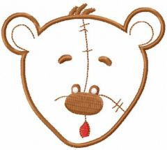 Teddy bear applique 2 embroidery design